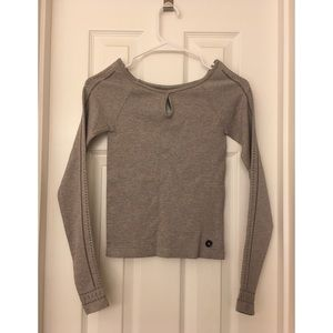 Hollister Stretchy Ribbed Long Sleeve Crop Top NWT